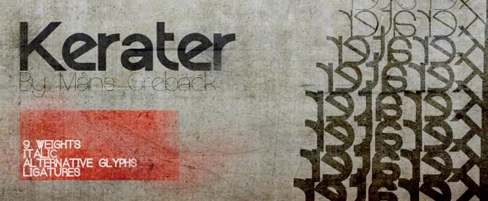 Kerater Font poster
