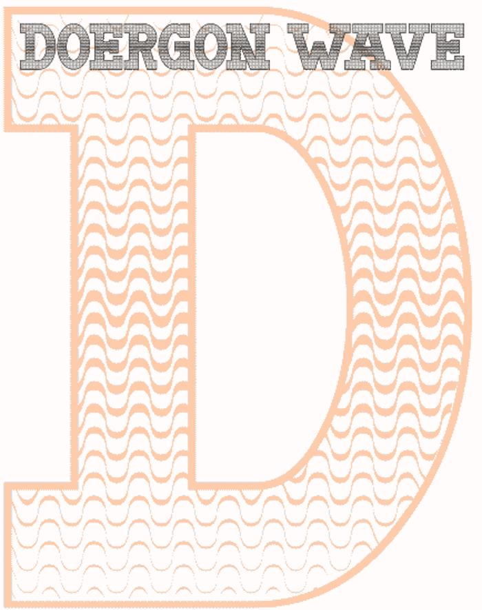 Doergon Wave Font poster
