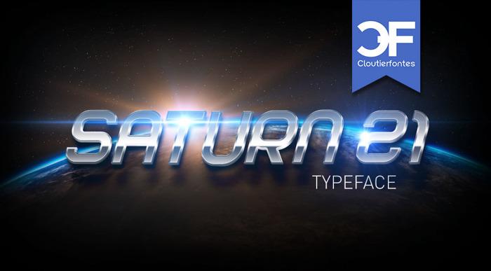 CF Saturn 21 Font poster