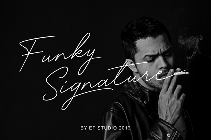 Funky Signature Font poster