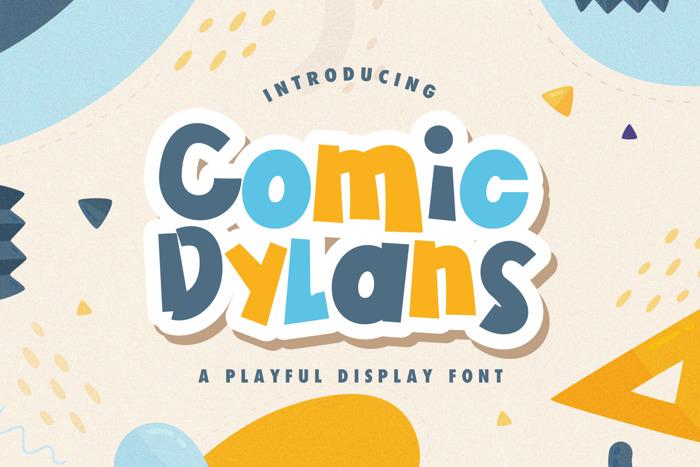 Comic Dylans Font poster