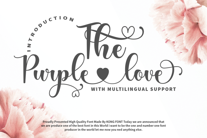 The Purple Love Font poster