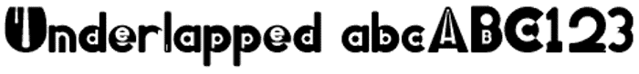 Underlapped Font poster
