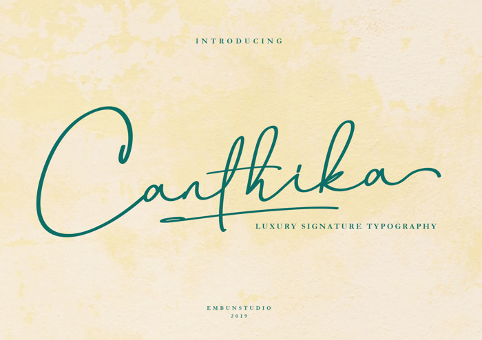 Canthika Font poster