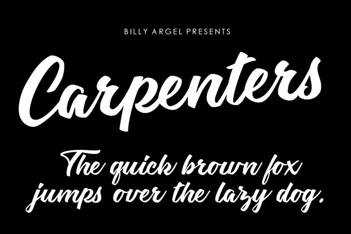 Carpenters Font poster