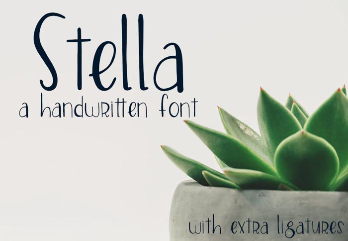 Stella Font poster