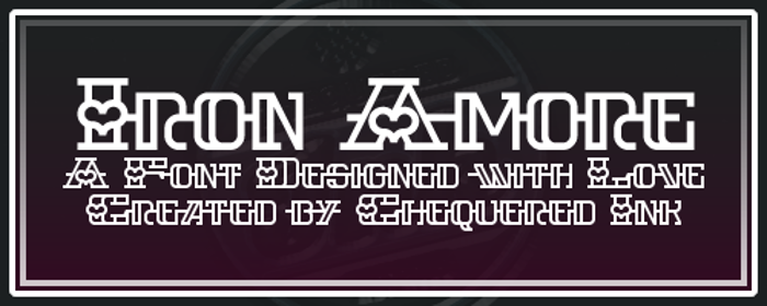 Iron Amore Font poster