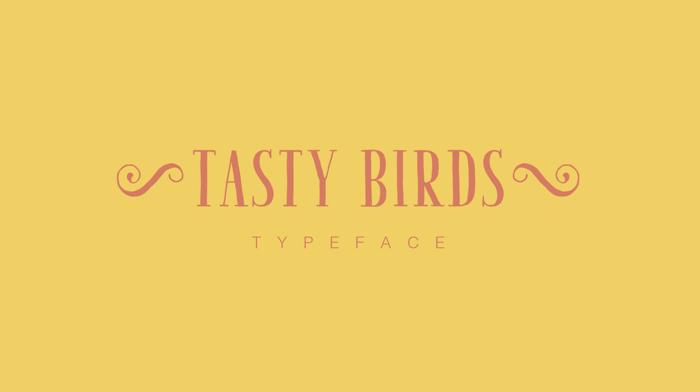 Tasty Birds Font poster