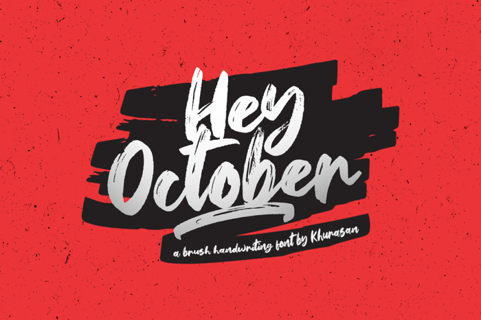 Hey October Font poster