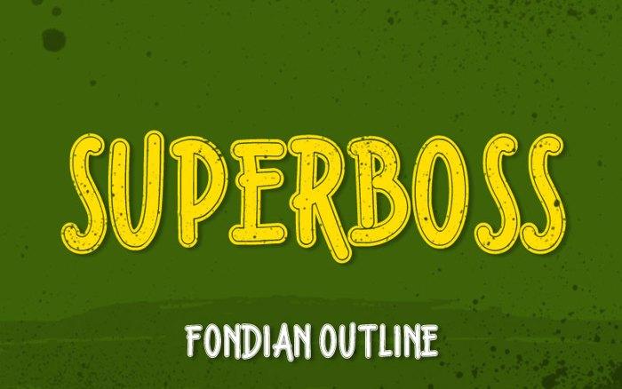 Fondian Outline Font poster