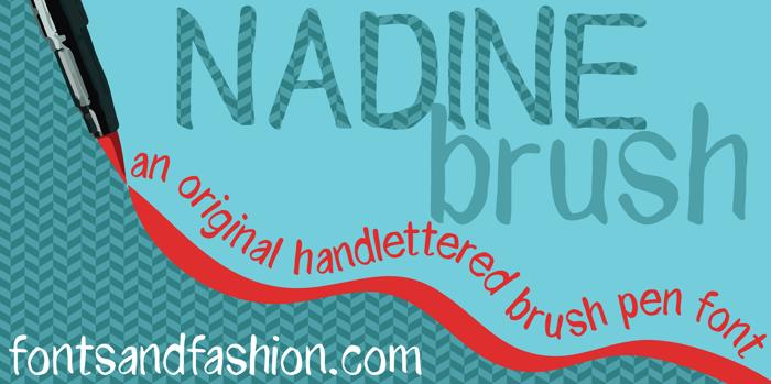 NADINE brush Font poster