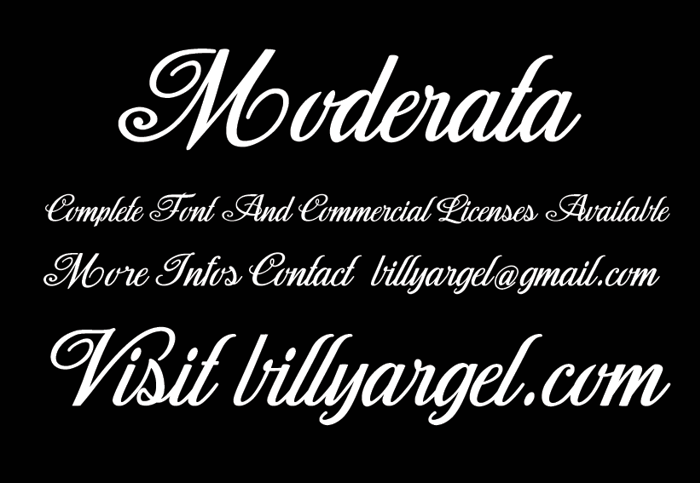 Moderata Font poster