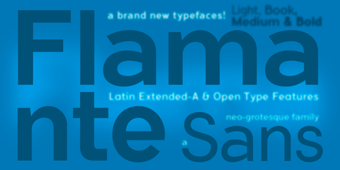 Flamante Sans Font poster