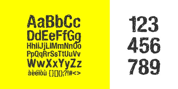 HandVetica Font poster