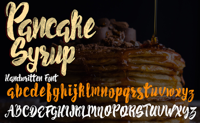 Pancake Syrup  Textured Font poster