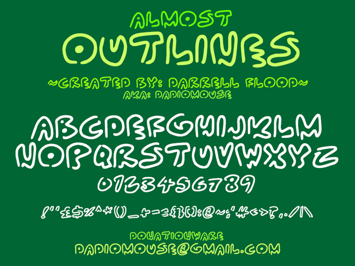 Almost Outlines Font poster