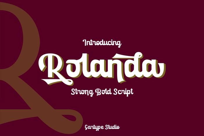 Rolanda Font poster