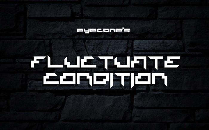 Fluctuate Condition Font poster