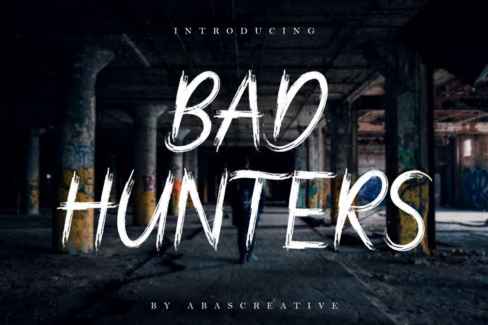 Bad Hunters Font poster