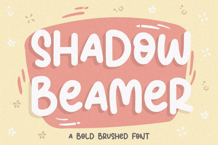 Shadow Beamer Font poster