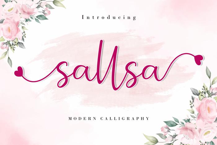 Sallsa Font poster