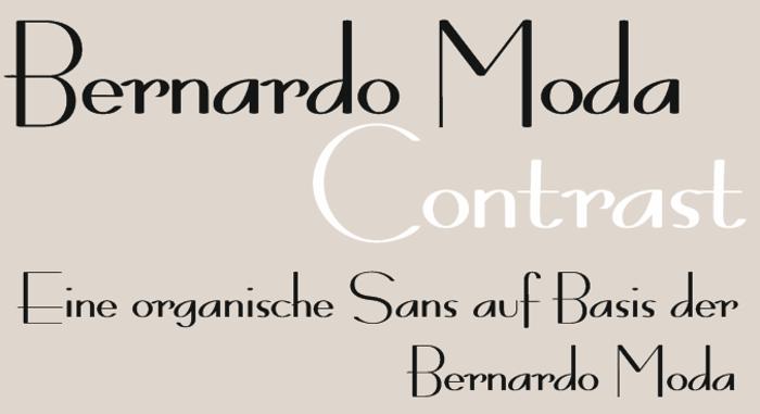Bernardo Moda Contrast Font poster