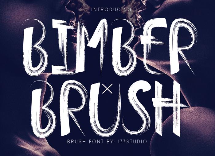 Bimber Brush Font poster
