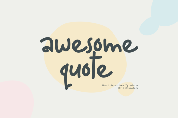 Awesome Quote Font