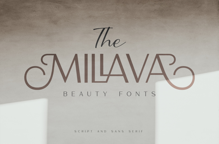 The Millava Font poster