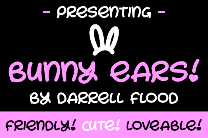 Bunny Ears Font poster