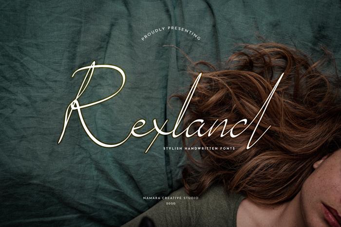 Rexland Font poster