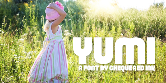 Yumi Font poster