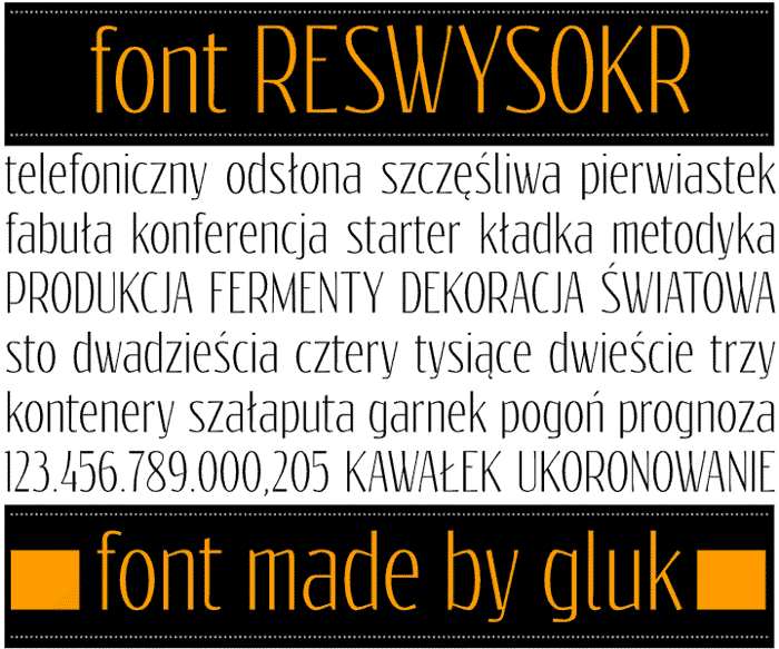 Reswysokr Font poster