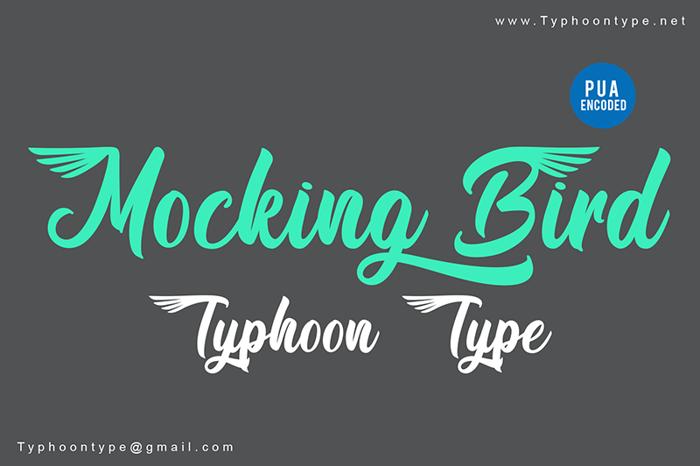 Mocking Bird Font poster