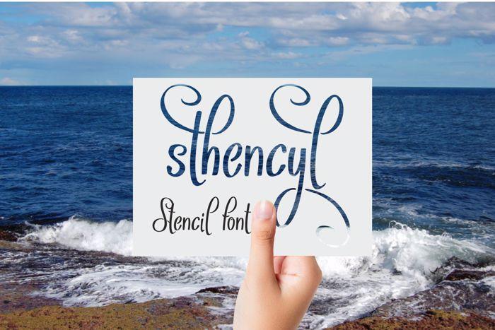 Sthencyl Font poster