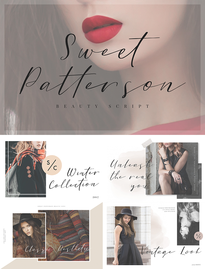 Sweet Patterson Font poster