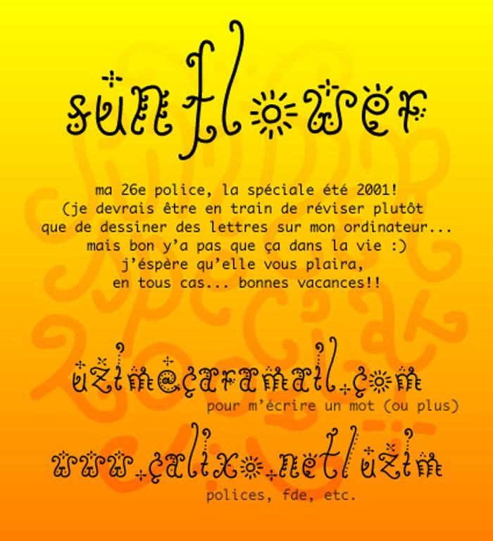 Sunflower Font poster