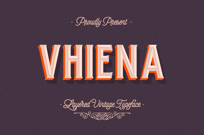 Vhiena Outline Font poster