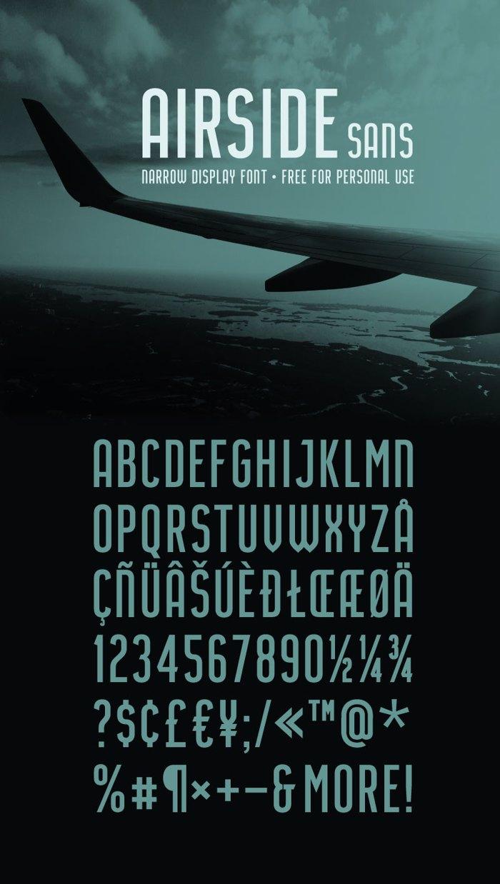 Airside Sans Font poster