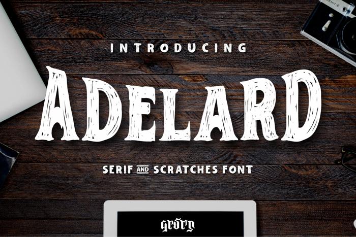 Adelard Font poster