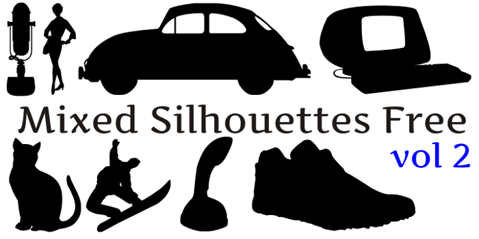 Mixed Silhouettes Free vol 2 Font poster