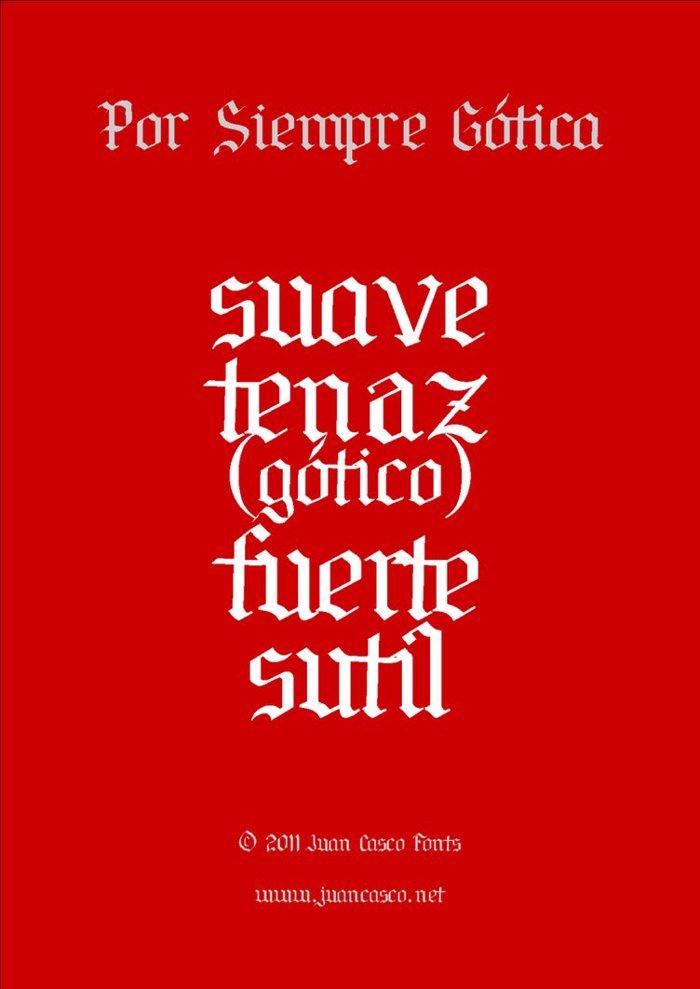 Por Siempre Gótica Font poster