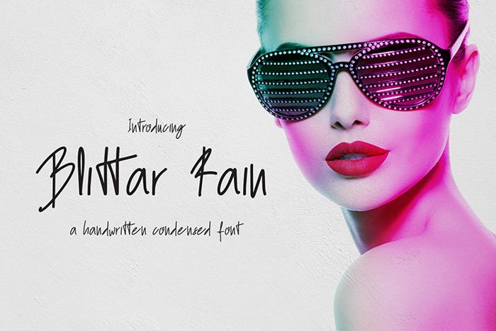 Blittar Rain Font poster