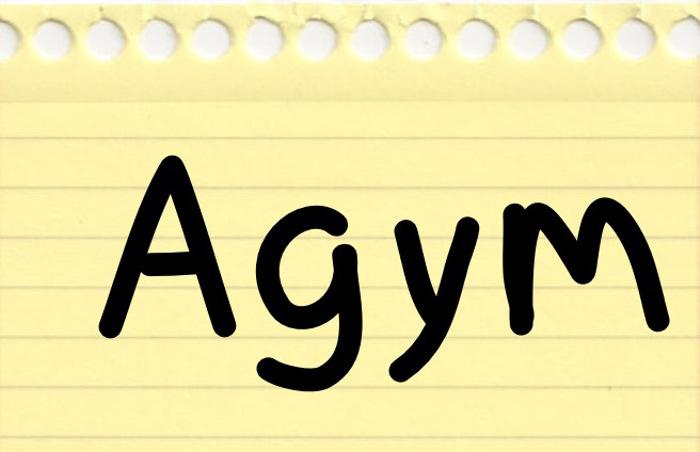 Agym Font poster