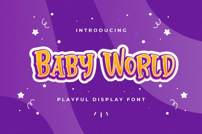 Baby World Font poster
