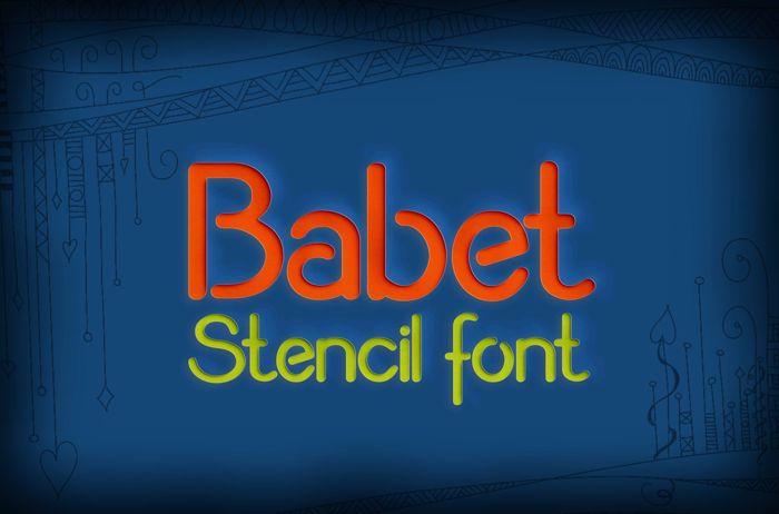 Babet Font poster