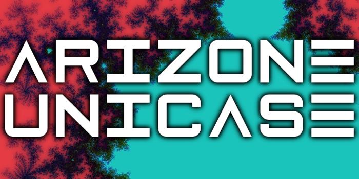 Arizone Unicase Font poster