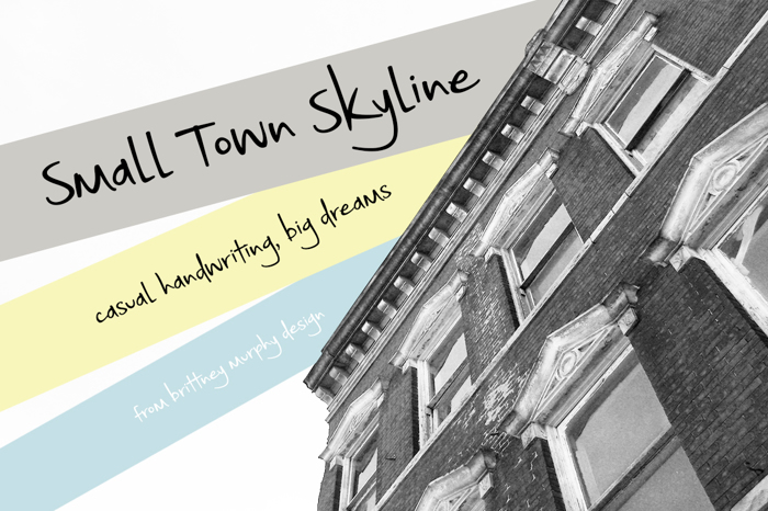 Small Town Skyline Font poster