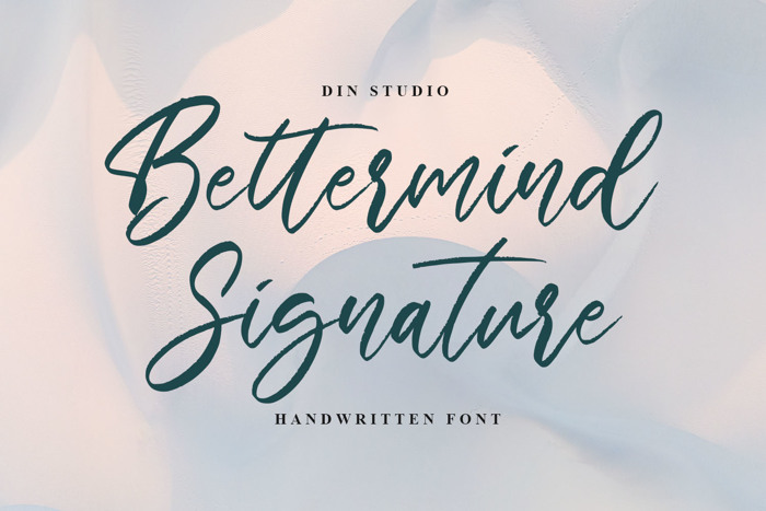 Bettermind Signature Personal U Font poster