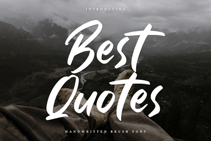 Best Quotes Font poster